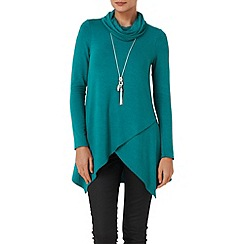 Phase Eight - Veridian tara roll neck top