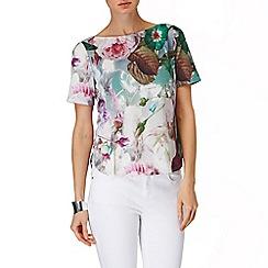 Phase Eight - Multi-coloured bobbi botanical top