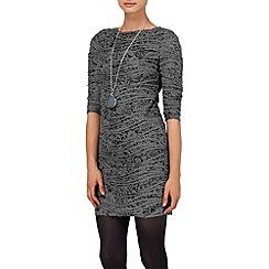 Phase Eight - Black and Grey millie textured tunic