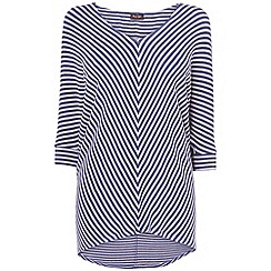 Phase Eight - Foxglove and navy mildred chevron stripe top