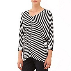 Phase Eight - Charcoal and Oatmeal mildred chevron stripe top