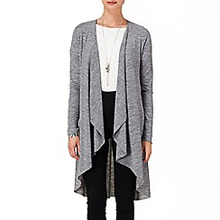 Phase Eight - Grey Marl lea wool mix cardigan