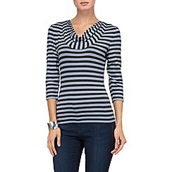 Phase Eight - Charcoal and Blue carrie stripe top