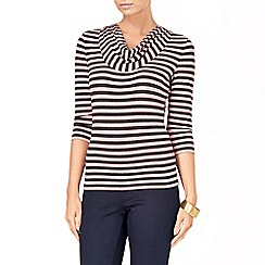 Phase Eight - Charcoal and Pink carrie stripe top