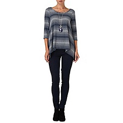 Phase Eight - Navy and Grey vera variegated stripe top