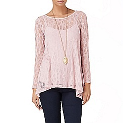 Phase Eight - Pink plain pointelle top