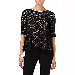 Phase Eight - Black leoni lace top