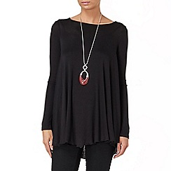 Phase Eight - Black longline swing top