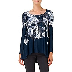 Phase Eight - Navy layla long sleeve top