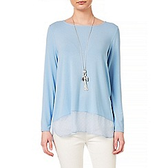 Phase Eight - Starlight Blue solange spot trim top