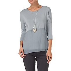 Phase Eight - Ice Blue janie mix top