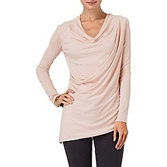 Phase Eight - Cameo pink abby asymmetric cowl top