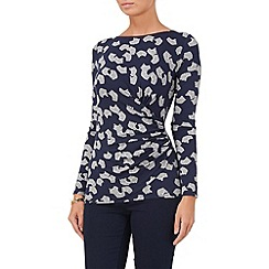 Phase Eight - Navy and Grey fan print top