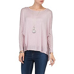 Phase Eight - Dusty Pink jess woven godet top