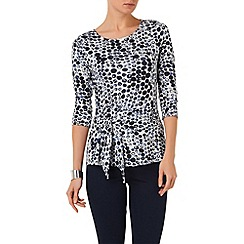 Phase Eight - Blue and white abellona spot top