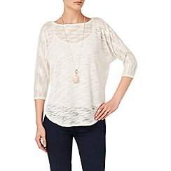 Phase Eight - White saskia slub top