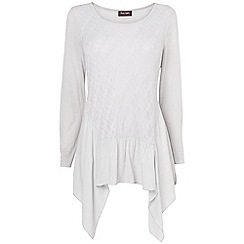 Phase Eight - Silver polly pointelle mix top
