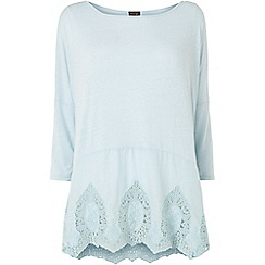 Phase Eight - Blue eloise embroidered top