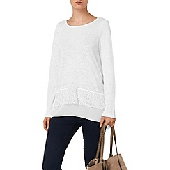 Phase Eight - Luna lace hem linen top