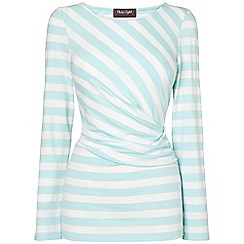 Phase Eight - Aqua and White flora fitted stripe top