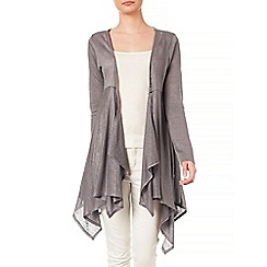 Phase Eight - Coffee diane dip hem linen cardigan