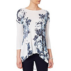 Phase Eight - White and Grey fabien print top