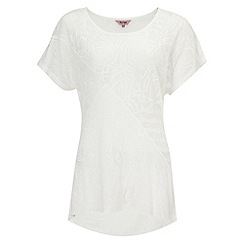 Phase Eight - White lowri lace cutabout longline top
