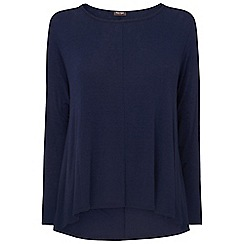 Phase Eight - Navy dory dip hem top
