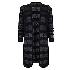 Phase Eight - Black chloe self stripe cardigan