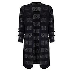 Phase Eight - Black chloe self stripe cardigan