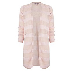 Phase Eight - Dusty Pink chloe self stripe cardigan
