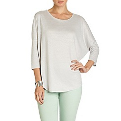 Phase Eight - Silver linen catrina top