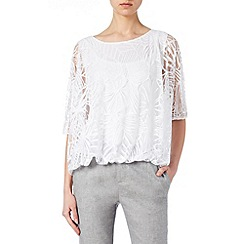 Phase Eight - White Cecily Burnout Top