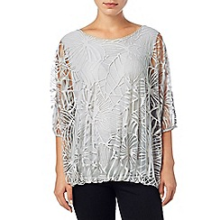Phase Eight - Silver cecily burnout top