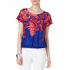 Phase Eight - Blue and Red alma print top