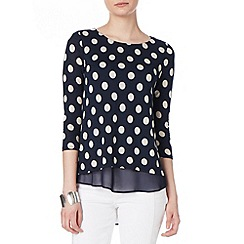 Phase Eight - Kelly spot woven hem top