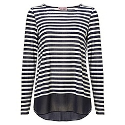 Phase Eight - Sandie stripe woven hem top