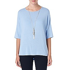 Phase Eight - Pale Blue elsie ellipse hem top