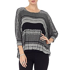 Phase Eight - Grey and Navy stripe cecily top