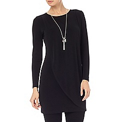 Phase Eight - Black dotty draped tunic