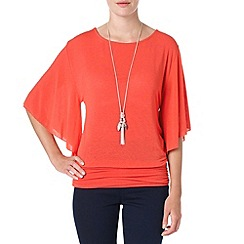 Phase Eight - Paprika angel sleeve dana blouse