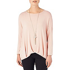 Phase Eight - Dusty Pink gia gathered hem top