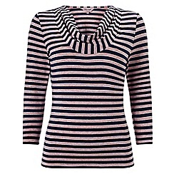 Phase Eight - Navy and Pink carrie stripe top