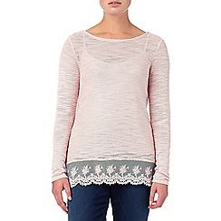 Phase Eight - Pink angela lace hem top