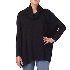 Phase Eight - Charcoal rhona rectangle roll neck jumper