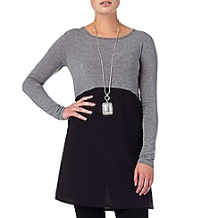 Phase Eight - Black and Grey willow woven hem tunic