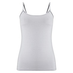 Phase Eight - Silver satin binding camisole