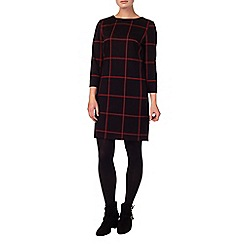 Phase Eight - Black and Red check ponte tunic dress