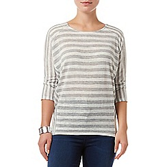 Phase Eight - Grey and Ivory carris stripe top