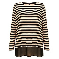 Phase Eight - Black and camel 'Sandie' stripe top